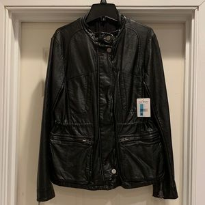 Free People Black Leather Jacket, 4